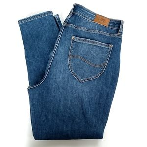 Lee Riders high rise skinny ankle jeans size 18M